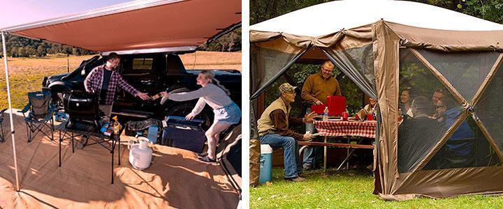 Cenadores para camping, carpas plegables impermeables para acampada, cenador portátil