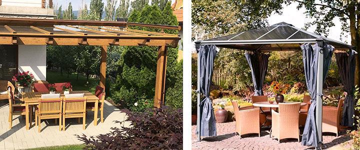 Cenadores de jardín baratos para terrazas y patios
